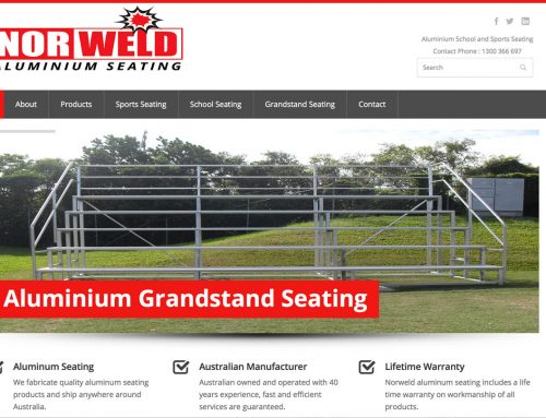 Product Showcase Website : Norweld Aluminium Seating