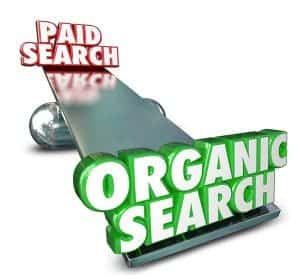 paid advertising versus organic search results seo